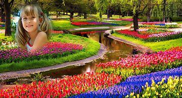 Memorable flower photo frame