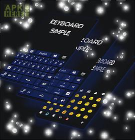 simple keyboard dark blue