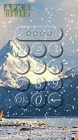 winter lock screen.