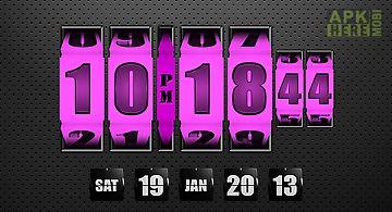 3d rolling clock widgets pink