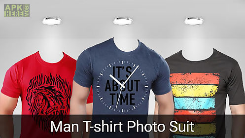 man t-shirt photo suit