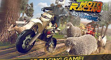 Cross moto racing adventure