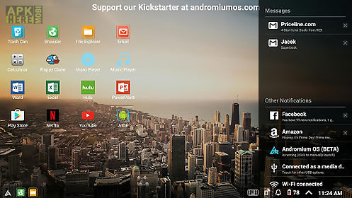 Andromium os (beta) for Android free download at Apk Here