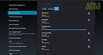 Adaptxt keyboard - tablet