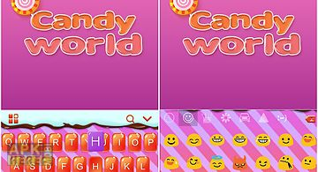 Candy world for kika keyboard