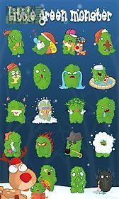 go sms little green sticker