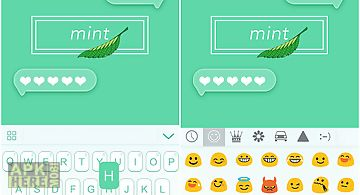Mint theme for emoji keyboard