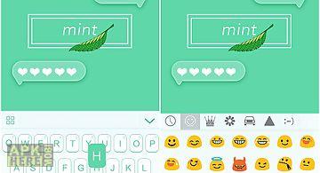 Mint theme for emoji keyboard