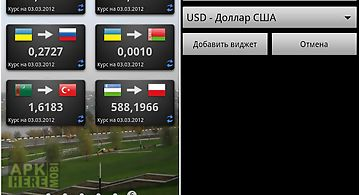 Nbu currency rates (widget)
