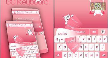 Go keyboard cute kitty theme