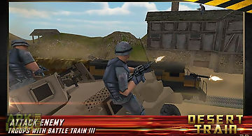 Gunship battle bullet train 3d