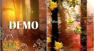 Fall golden diamond leaf demo