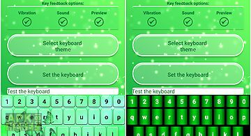 Neon green emoticon keyboard
