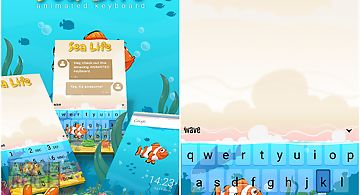 Sea life animated keyboard