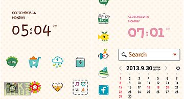 Redmon cute&simple dodol theme