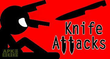 Knife attacks: stickman battle