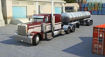 Semi truck parking simulator