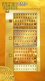 gold keyboard theme
