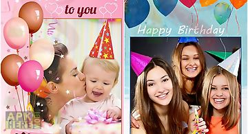 Happy birthday photo frame