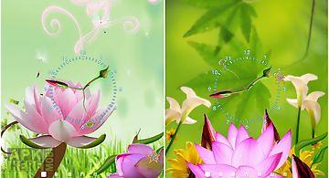 Lotus flower clock