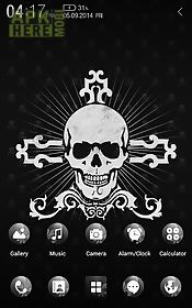 black skull atom theme