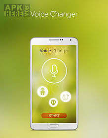 Free voice changer for Android free download at Apk Here store