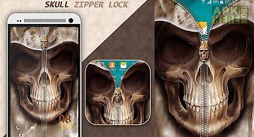 Skull zipper lock