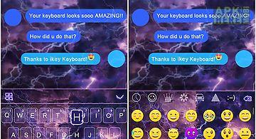 Thunderstorm emoji ikeyboard