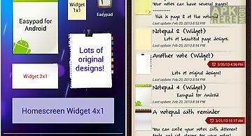 Easypad®: elegant notes widget