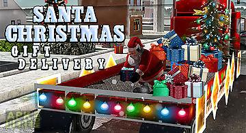 Santa christmas gift delivery