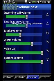 volume setting[cvolume] next