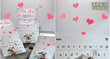 Cat love animated keyboard