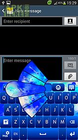 simple blue keyboard