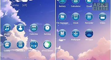 Sunset-apus launcher theme