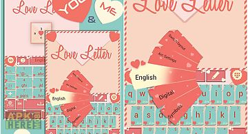 Love letter go keyboard theme