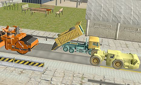 road builder construction site