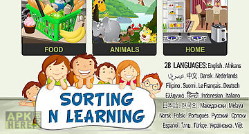 Sorting n learning game 4 kids