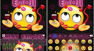 Kiss emoji kika keyboard theme