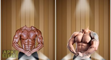 Man body builder photo montage