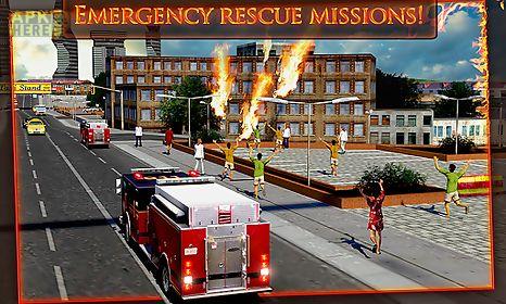 fire truck emergency rescue 3d