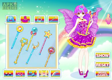 rainbow fashion princess games