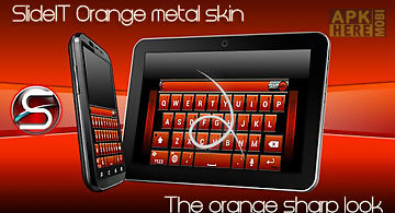 Slideit orange metal skin