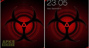 Abstract red black cool theme