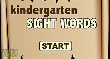 Kindergarten sight words free