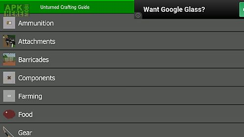 unturned crafting guide