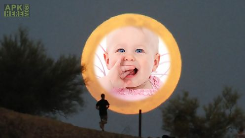 moon star photo frames montage