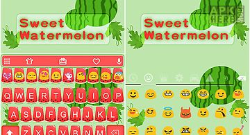 Sweet watermelon keyboard skin