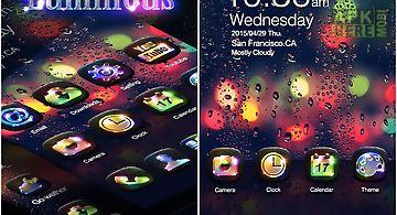 Luminous go launcher theme