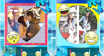Cute girl collages pic frames