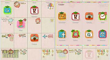 Diary go launcher theme